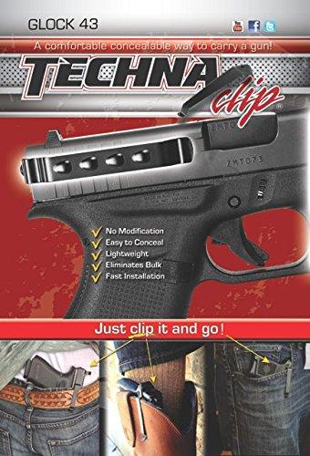 Techna Clip - Glock 43 .9MM - Conceal Carry Belt Clip (Ambidextrous)