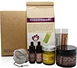 Naturally Beautiful Pregnancy Box, Luxury Prenatal Skincare For Mom To Be, Paraben Free Skin Care, With Prenatal Organic Herbs, Sweet Baby Shower Gift, Made In The USA, Green Maternity Gift