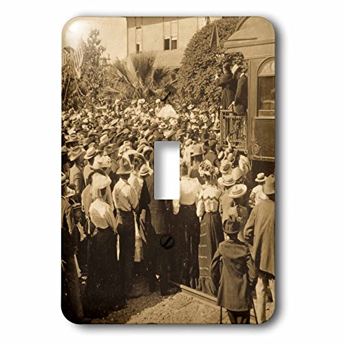 Scenes from the Past Stereoview - Greeting Roosevelts train in Reno Nevada 1903 vintage stereoview. - Light Switch Covers - single toggle switch - Nevada Reno Outlets