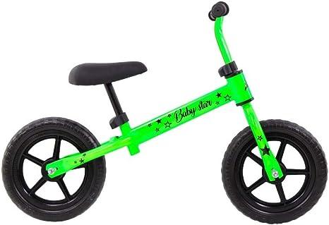 Grupo K-2 Riscko - Bicicleta sin Pedales con sillín Y Manillar Regulables   Ultraligera   Correpasillos Minibike   Bicicleta para Niños de 2 a 5 años Baby Star Verde Fluor: Amazon.es: Deportes y aire libre