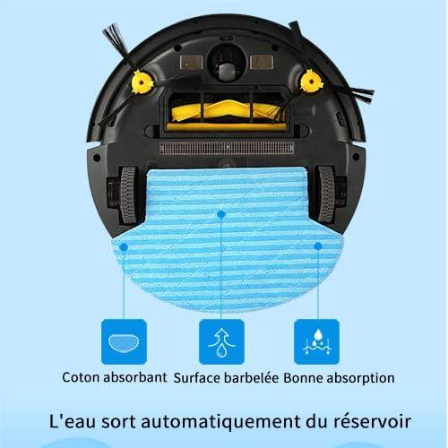 Aspirateur Robot 3 en 1,TEENO Robot Aspirateur Laveur avec fonction lavage de sol,Système de Nettoyage Puissant,Compatible avec Alexa, Bordure Magnétique,Désinfection UV - Home Robots
