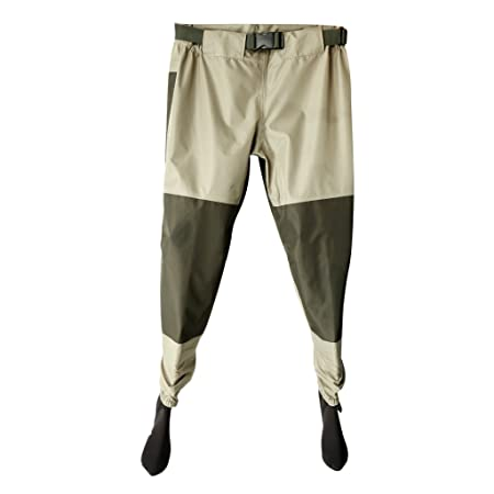 Jili Online Breathable Rafting Fishing Wader Elastic Waist Pants with Neoprene Socks Shoes
