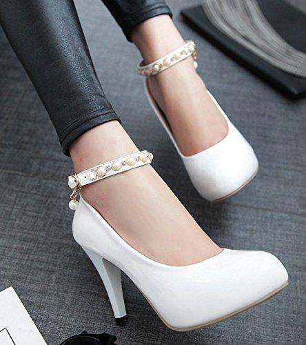 Aisun Blanc Talon Perle Sexy Femme Haut Escarpins w8qH1Pw