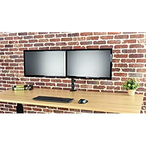 """VIVO Dual LCD LED Monitor Desk Mount Stand Heavy Duty Fully Adjustable fits 2 / Two Screens up to 27"""""""