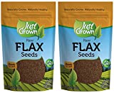 Just Grown Raw Flax Seeds Kosher 12-Ounce (Pack of 2)