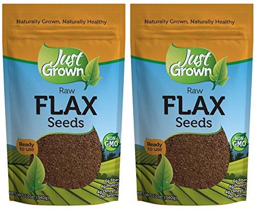 Juste Grown Raw graines de lin de 12 onces (Pack de 2)