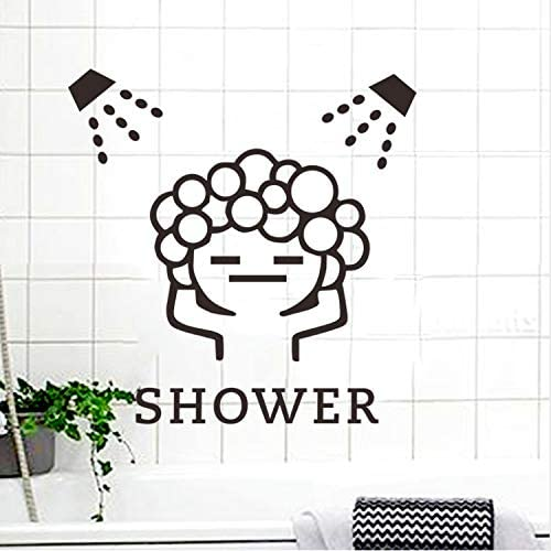 dalongshan Etiqueta De La Pared Creativa Baby Love Shower Bubble para Baño Puerta Corredera De Cristal A Prueba De Agua Cuarto De Ducha Tatuajes De Pared Arte Mural: Amazon.es: Hogar