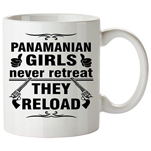 PANAMANIAN Coffee Mug 11 Oz - Good Gifts for Girls - Unique Coffee Cup - Decor Decal Souvenirs Memorabilia