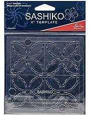 Sew Easy Sashiko Embroidery Template 4 x 4in Shippou (Seven Treasures)
