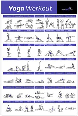 Gwxevce Exercise Workout Poster Poids corporel Yoga Workout Stabilit/é Ballon Halt/ère