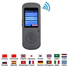 Smart Language Translator Device, WiFi Portable Handheld Intelligent Real Voice 16 Foreign Languages Accurate for Travel Learning Business Meeting