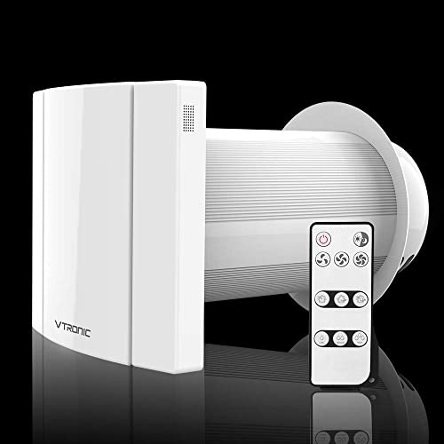 VTRONIC Wall Mounted Ductless HEPA Ventilation Fan with Carbon Filter Wireless Remote Controller