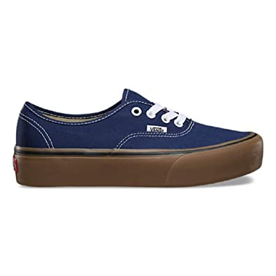 ed603fb1a9f2 Image Unavailable. Image not available for. Color  Vans Authentic Platform  Gum Medieval Blue Gum Women s ...