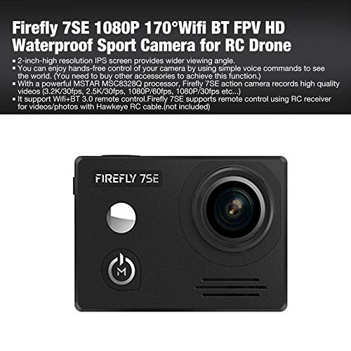 Wikiwand Firefly 7SE 1080P 170°WiFi BT FPV HD Waterproof Sport Camera for RC Drone by Wikiwand (Image #2)