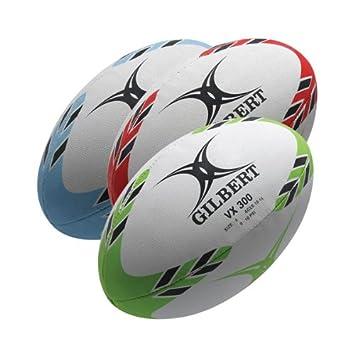 Gilbert VX300 - Balón de rugby multicolor blanco y rojo Talla:5 ...