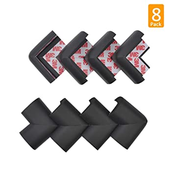Cabinet Baby Safety Corner Protectors 8 Pack Corner Guards Black Countertop Stair Besego Proofing Edge Protector Safe Corner Cushion for Table