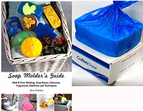 24 Lb. Block Baby Buttermilk Melt & Pour Soap Base, Crafters Choice, with Richly Illustrated 44-Page Soap Molder