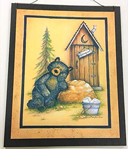 Amazon Com Occupied Black Bear Cabin Theme Wood Sign Country