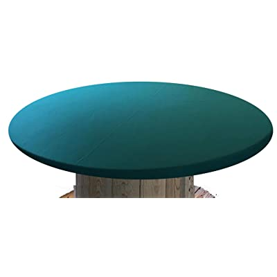 Felt Poker Table Cover - Patio Tablecloth Bonnet with Elastic Band- for Round 36 Inch Table - Patio Table (Green, 48 inch Round): Home & Kitchen