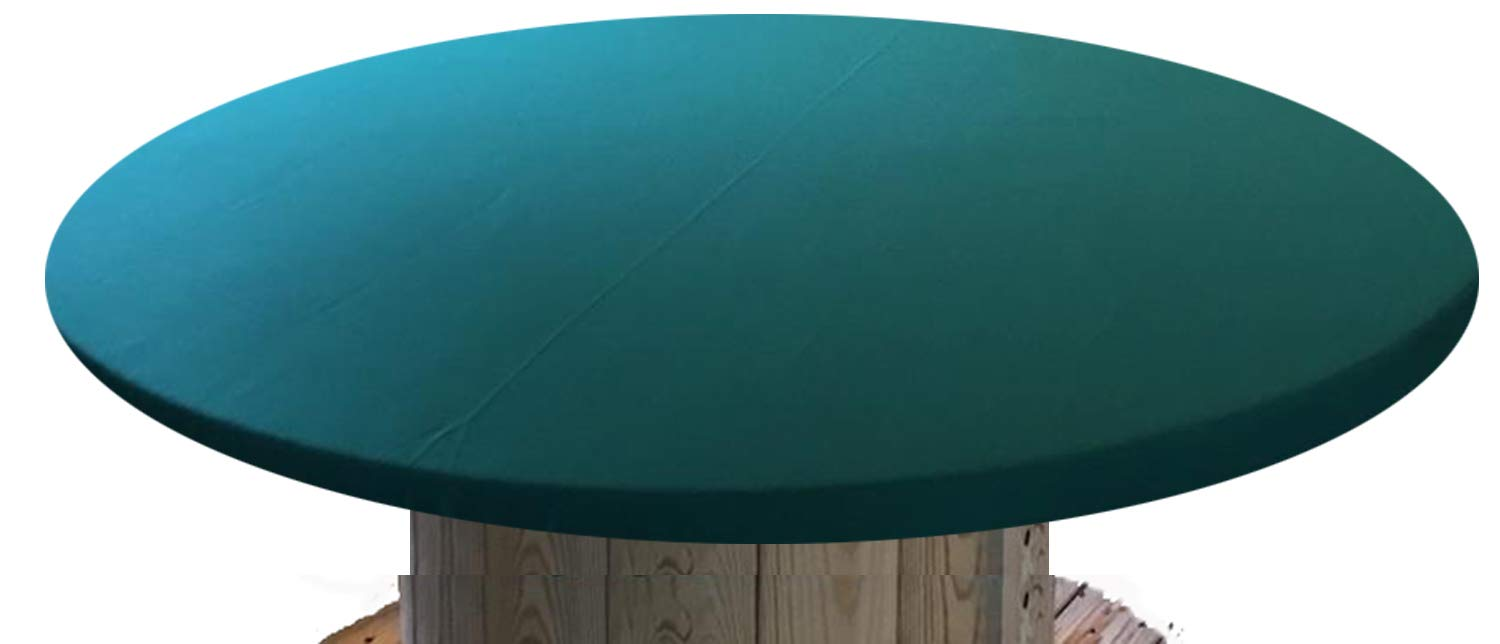 Felt Poker Table Cover – Patio Tablecloth Bonnet with Elastic Band- for Round 36 Inch Table – Patio Table Green, 48 inch Round