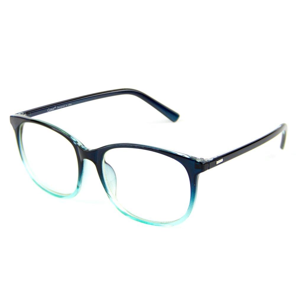 Cyxus Blue Light Filter Computer Glasses for Blocking UV Headache [Anti Eye Fatigue] Transparent Lens Unisex (Gradient bulish Green)