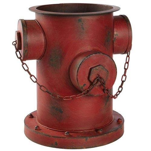 Blumentopf Übertopf Hydrant Shabby Chic Rostoptik Eisen ca. 35 x 32 x 36 cm rot