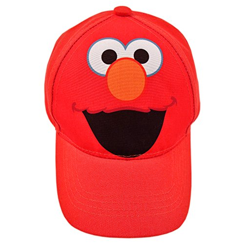 Sesame Street Boys Toddler Elmo Cotton Baseball Cap, red, 2T-4T