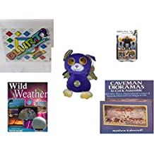 """Children's Gift Bundle - Ages 6-12 [5 Piece] - Blurt! The Webster's Game of Word Racing! Game - Mega Bloks Halo UNSC Offworld Cyclops Toy - Sugarloaf Toys Trick or Treat Bat Plush 11"""" - Wild Weather"""