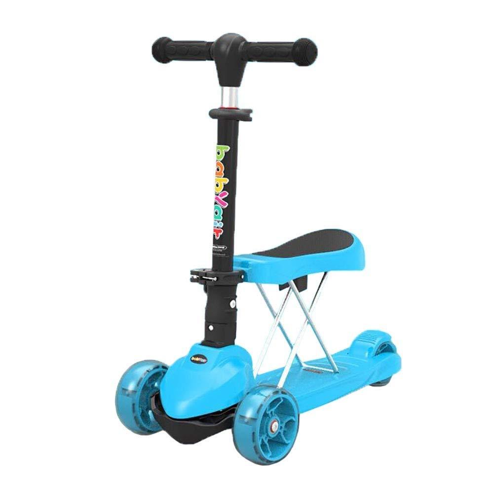 ★日本の職人技★ スクーターを蹴る子供たち 折りたたみクールスクーター :、自転車3輪スイング車 (色 青 : ピンク) B07R41YWR8 青 B07R41YWR8 青, テンポアップ:995ea55a --- 4x4.lt