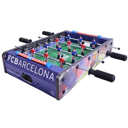 F.c. Barcelona 20 Inch Football Table Game Stadium Football Table 6 Players Per Team Sturdy by GiftRush