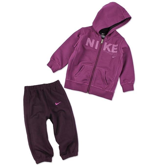 Nike - Conjunto Deportivo - para bebé niña Rosa Dark Pink/Purple 18-24