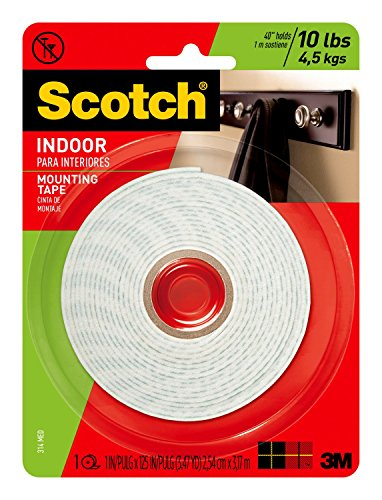 Scotch Indoor Mounting Tape, 1-Inch x 125-Inches, 1-Roll
