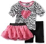 Little Lass Baby-Girls Newborn 3 Piece Zebra Tutu Set