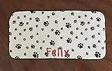 Pet Bowl Mat, Dog Bowl Mat, Personalized Dog Mat, Dog Mat, Pet Mat, Dog Gift, Pet Gift, Pet Placemat, Ferret Bowl Mat, Personalized Pet