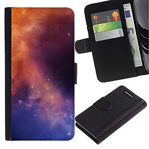 JackGot ( Galaxy Colores ) Sony Xperia Z3 Compact / Z3 Mini (Not Z3) la tarjeta de Crédito Slots PU Funda de cuero Monedero caso cubierta de piel