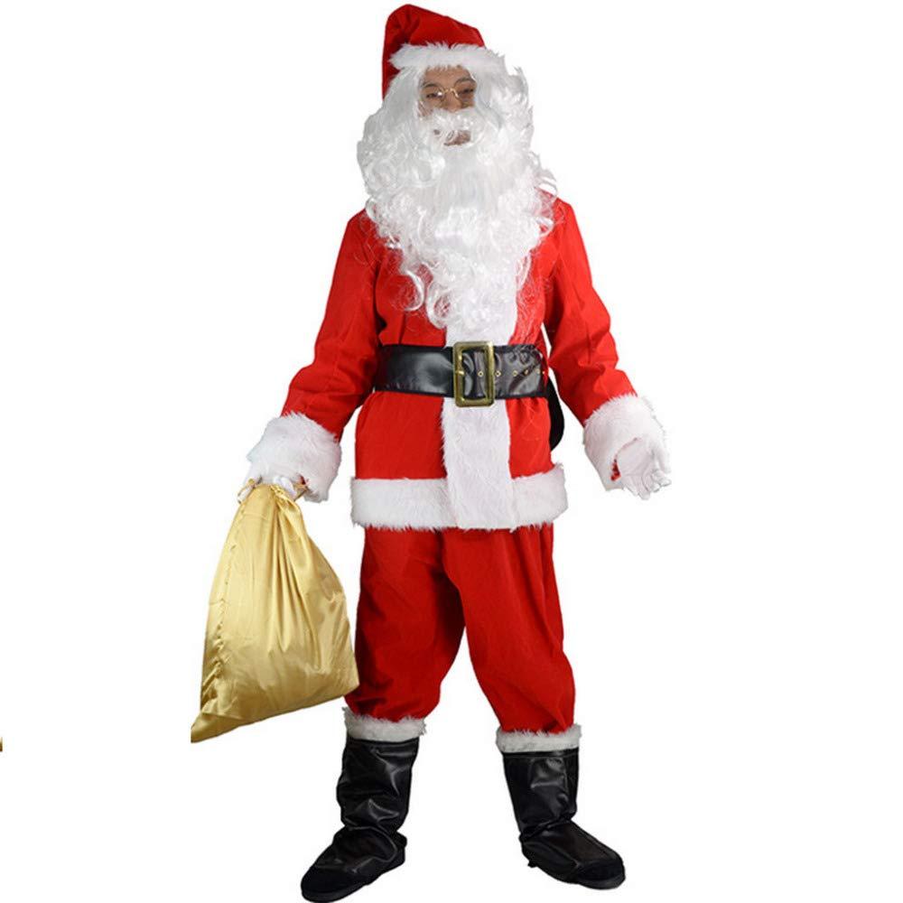 Amazon.com: Xinyu - Disfraz de Santa Claus para hombre ...