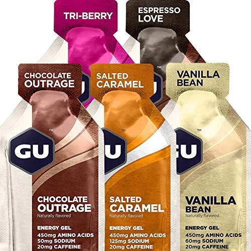 GU Energy Original Sports Nutrition Energy Gel, Sample Pack, 10 Count