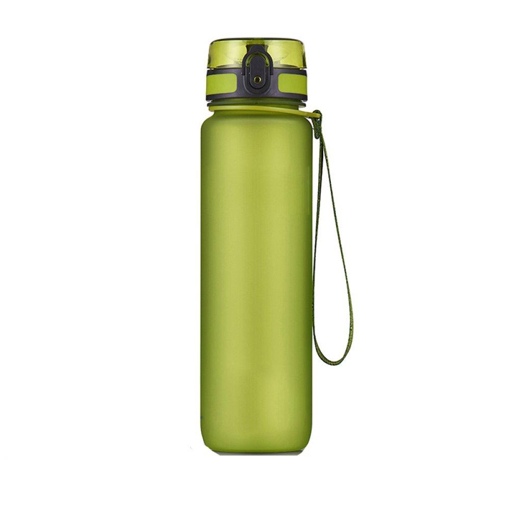 1L De Gran Capacidad De La Botella De Deporte Al Aire Libre Fitness Copa De La Mano De Los Hombres A Prueba De Fugas Y De La Copa Resistente Al Agua Vaso De Plástico BPA Libera,Green-500ML