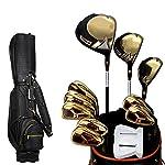 Yuefensu-Set-da-Club-Golf-Club-Gli-Uomini-di-Oro-Polo-con-Black-Ball-Bag-Golf-Full-Set-Golf-Professionale-Game-Club-Nero-Rod-Bag-Black-Ball-con-Color-Gold-Size-11