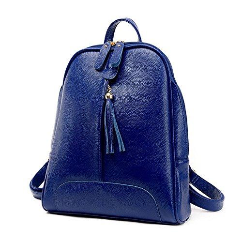 Femme Voyage Shopping Fashion à Loisirs Pu ZHXUANXUAN Sac Blue Dos Trip Tassel TwfBOcq