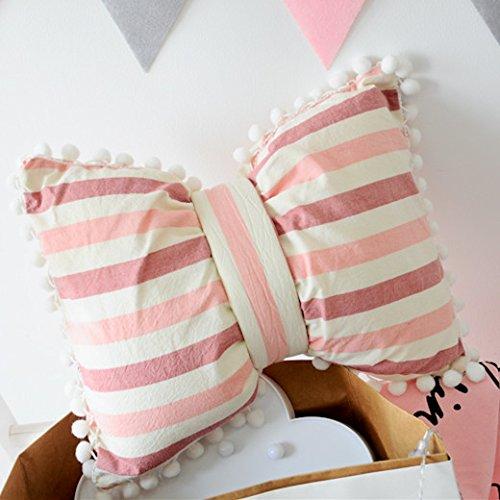 Arco 28 Con Rimovibile Piccolo Frange Cuscino Girl Arco 38 E Casa Ad nbsp;strisce Cm Cute Rosa Auto Divano Soggiorno Meraviglioso Peluche Baonzen Palla Lavabile 8qABZxwFn7