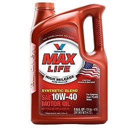 Valvoline MaxLife SAE 10W-40 High Mileage Motor Oil - 5 Quart; 782482