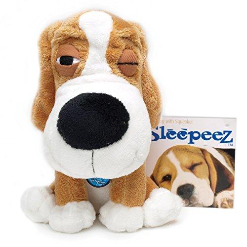 - Boss Pet Plush Cuddly Sleepeez Golden Beagle with Squeaker Dog Toy