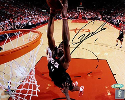 (Clint Capela Signed Autographed Houston Rockets Dunk Close-up 8x10 Photo TRISTAR COA)