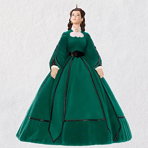 Hallmark Keepsake Christmas Ornament 2018 Year Dated, Gone with The Wind Scarlett's Christmas Dress -