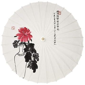 Amazon.com: BeTyd - Paraguas de papel blanco con diseño de ...