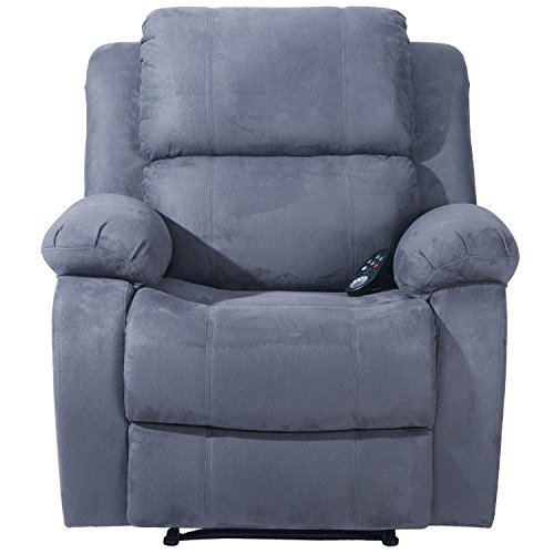 Save 53 Merax Suede Heated Massage Recliner Sofa Chair Ergonomic Lounge With 8 Vibration
