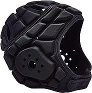 COOLOMG Men's Sport Goalkeeper Adjustable Soccer Goalie Helmet Head Protector Support Equip