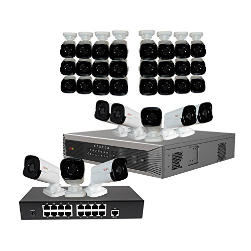 UPC 812237010178, Revo America Ultra Plus Commerical Grade 32CH 4K H.265 NVR, 8 TB Surveillance Grade HDD, Remote Access, with 32x 4 Megapixel Indoor/Outdoor True WDR IR Bullet Camera