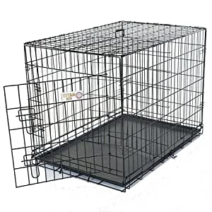 42 inch Single Door Folding Dog Crate By Majestic Pet Products Large